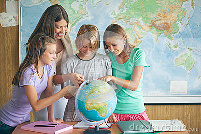 Students in a Geography Lesson