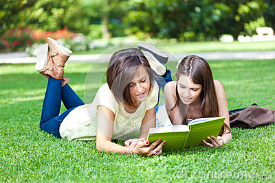 Students on the grass