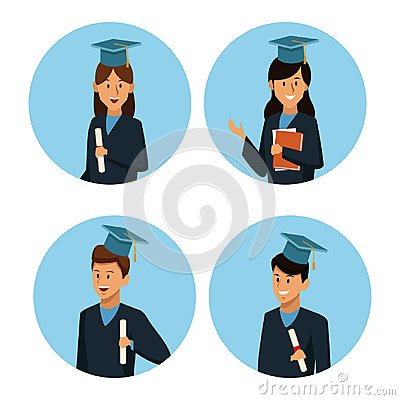 Free Students In Robe Cartoon Royalty Free Stock Images - 108591699