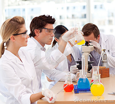 Free Students Learning Scientific Experiments Royalty Free Stock Photos - 9521548