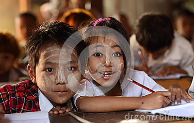 Students in Mandalay Editorial Stock Photo