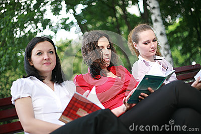 Students in the open air