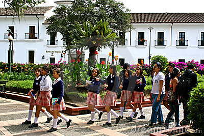 Students, Popayán, Colombia Editorial Stock Image