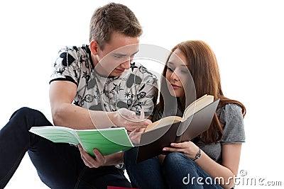 Students prepare for examination
