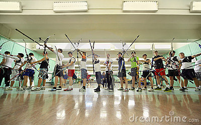 Students shot from bow at Championship Editorial Photo