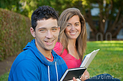 Students with Text books