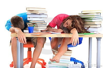Students tired from studying