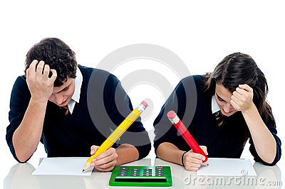 Students trying to recollect the answer