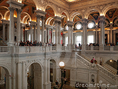 Students visiting the Library of Congress Editorial Stock Photo