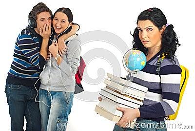 Students whisper and tells secrets