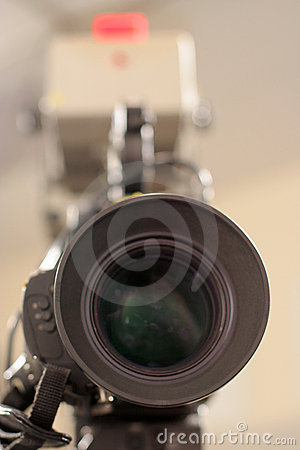 Studio Camera Lens and Tally light