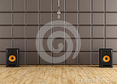 studio d 39 enregistrement illustration stock image 38790434. Black Bedroom Furniture Sets. Home Design Ideas