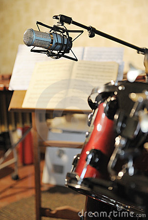 Free Studio Musical Microphone Stock Photography - 14382682