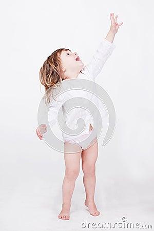 Studio porrait of cute child