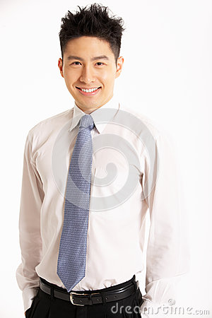 Studio Portrait Of Chinese Businessman