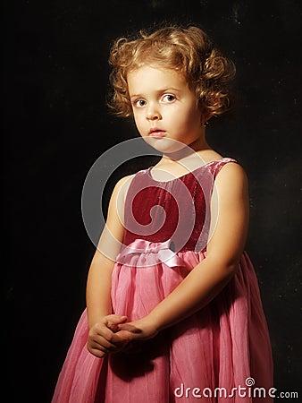 Studio portrait little girl