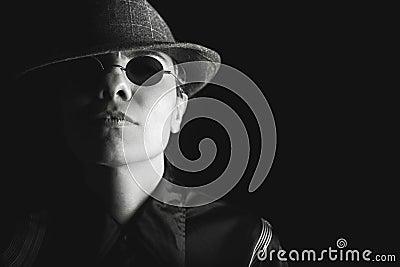 Studio Portrait Of Man In Hat And Sunglasses Free Public Domain Cc0 Image