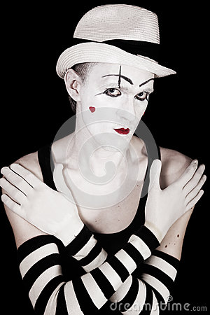 Studio portrait of mime p