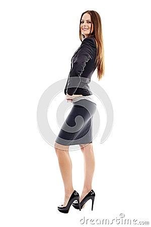 Studio portrait of successful businesswoman