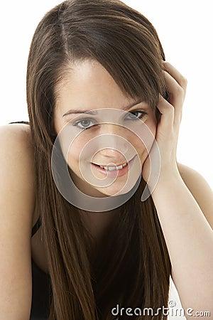 Studio Portrait Of Teenage Girl