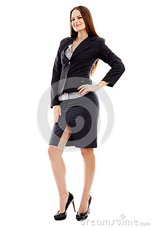 Studio portrait of young businesswoman