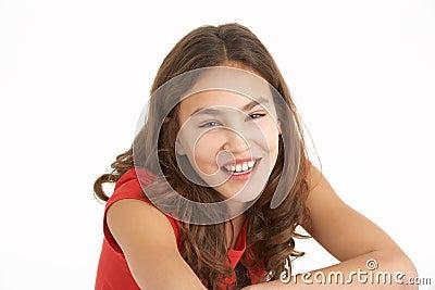Studio Portrait Of Young Girl
