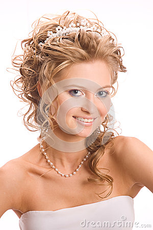 Studio portret of bride