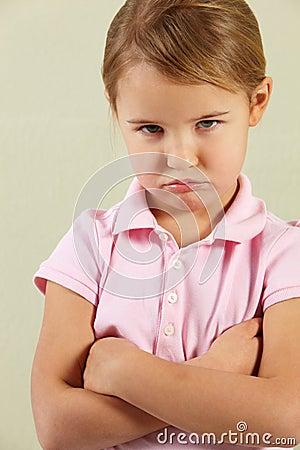 Studio Shot Of Angry Young Girl