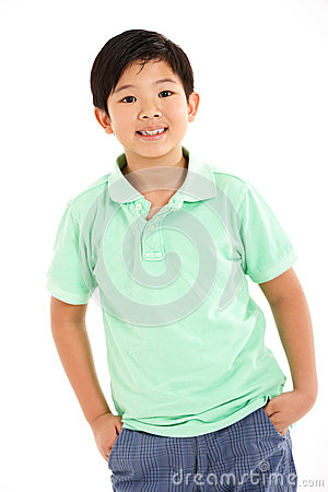 Studio Shot Of Chinese Boy
