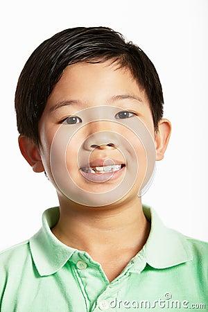 Studio Shot Of Chinese Boy