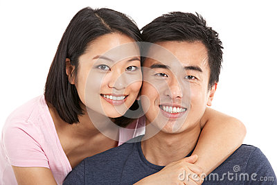 Studio Shot Of Chinese Couple