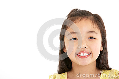 Studio Shot Of Chinese Girl