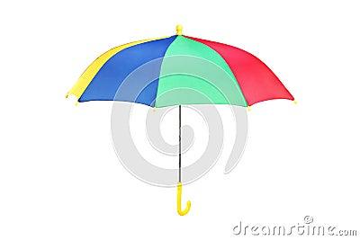 Studio shot of a colorfull umbrella