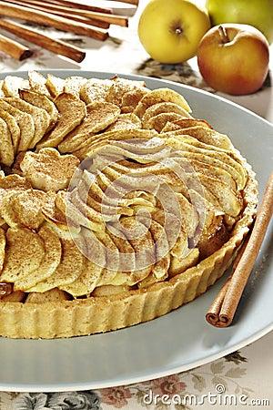 Conceptual studio shot of an appel pie