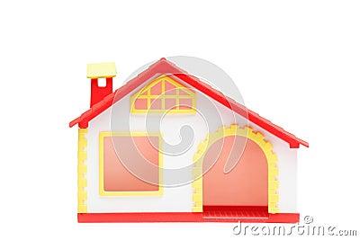 A studio shot of a miniature house