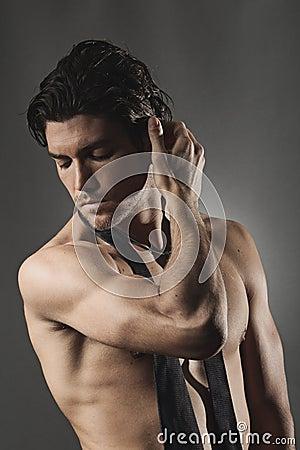 Free Studio Shot Of A Sexy Man Royalty Free Stock Image - 34612046