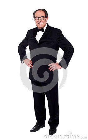 Free Studio Shot Of A Stylish Old Man Posing Stock Images - 25622204