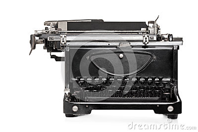 Studio shot of an old style typing machine