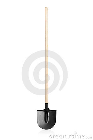 A studio shot of a shovel