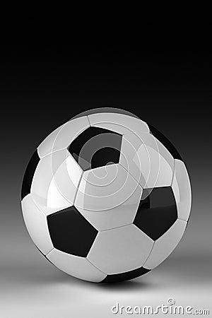 Studio shot of soccer ball