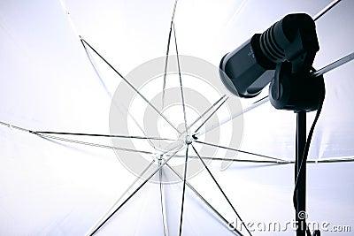 Studio slave flash and umbrella