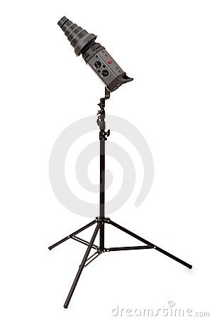 Studio strobe isolated