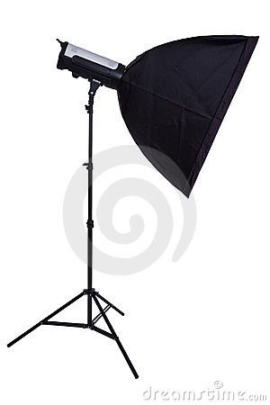Studio strobe with softbox