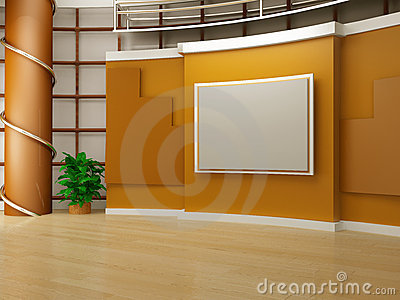 Studio tv Stock Photo