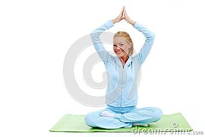 Studio yoga woman