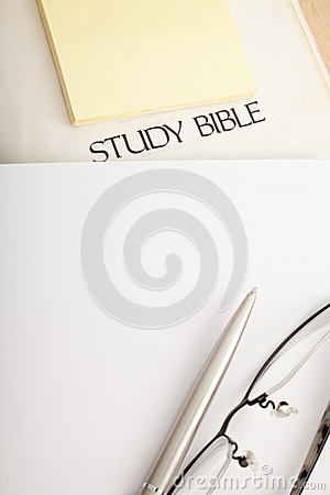 Study Bible with notebook
