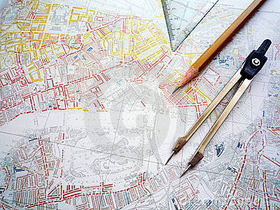 Study of city planning map