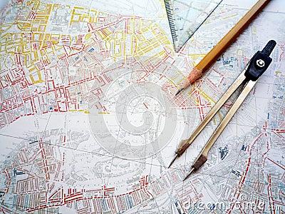 Study of city planning map