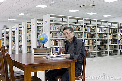Study in a library