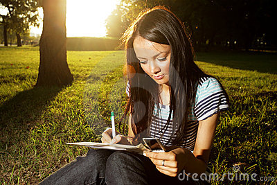 Study in park